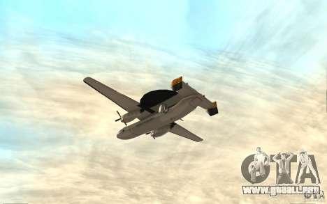 E-C2 Hawkeye para la visión correcta GTA San Andreas