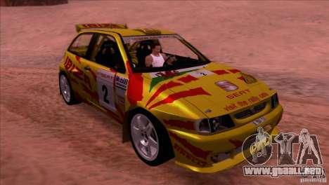 Seat Ibiza Rally para vista lateral GTA San Andreas