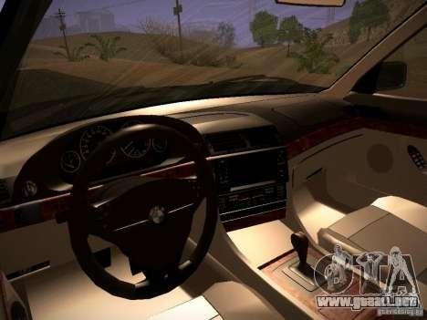 BMW 730i e38 1997 para visión interna GTA San Andreas