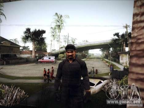 The Expendables para GTA San Andreas tercera pantalla