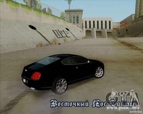 Bentley Continental GT V1.0 para el motor de GTA San Andreas