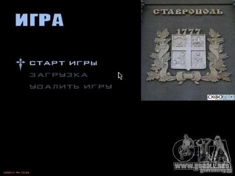 Pantalla de arranque de la ciudad de Stavropol para GTA San Andreas tercera pantalla