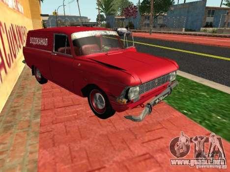 Moskvich 434 para GTA San Andreas vista hacia atrás