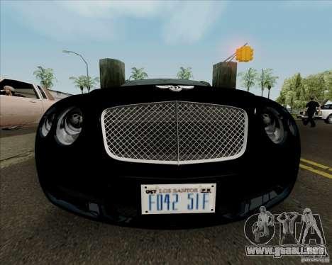 Bentley Continental GT V1.0 para vista inferior GTA San Andreas