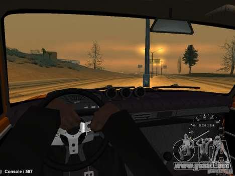 VAZ 2101 Hobo para GTA San Andreas vista posterior izquierda