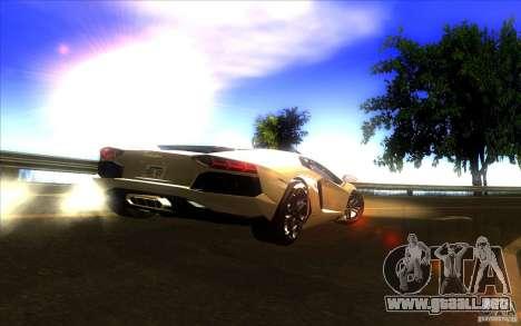 Lamborghini Aventador LP700-4 para la vista superior GTA San Andreas