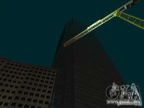 Nueva ciudad v1 para GTA San Andreas sucesivamente de pantalla