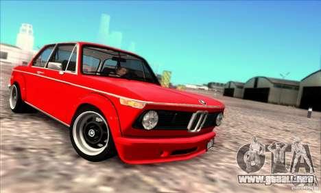 BMW 2002 Turbo para GTA San Andreas vista posterior izquierda