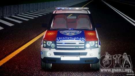 Range Rover Macedonian Police [ELS] para GTA 4 vista desde abajo