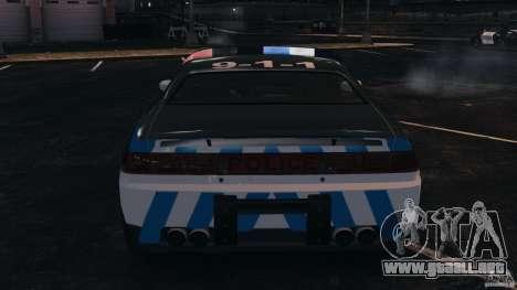 NFSOL State Police Car [ELS] para GTA 4 vista superior