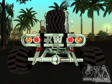 Kenworth W900 Monster para GTA San Andreas vista posterior izquierda