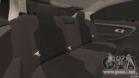 Ford Taurus 2010 Atlanta Police [ELS] para GTA 4 vista lateral