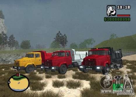 Camión KrAZ 65055 para GTA San Andreas left