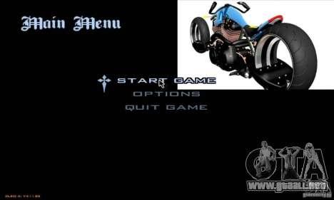 Pantallas de carga y menús en el estilo de la mo para GTA San Andreas quinta pantalla