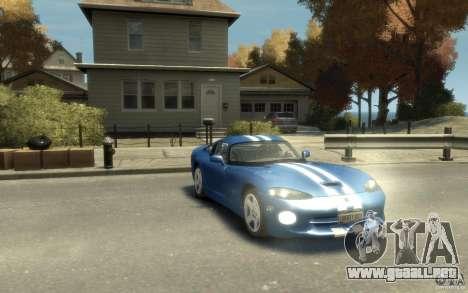 Dodge Viper GTS para GTA 4 vista hacia atrás