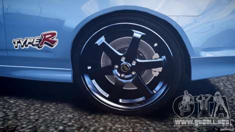 Acura RSX TypeS v1.0 Volk TE37 para GTA 4 vista desde abajo