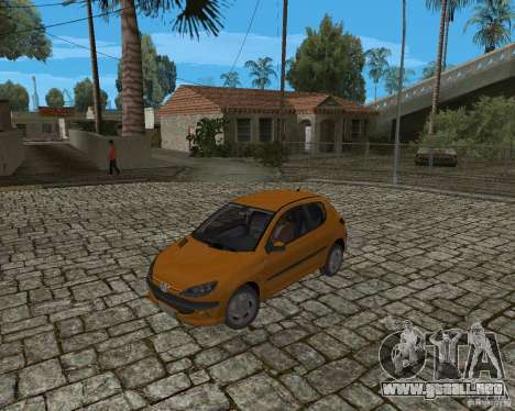 Peugeot 306 para GTA San Andreas vista hacia atrás