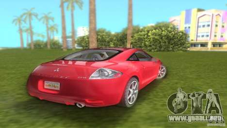 Mitsubishi Eclipse GT 2007 para GTA Vice City vista lateral izquierdo