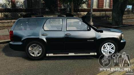 Chevrolet Tahoe LCPD SWAT para GTA 4 left