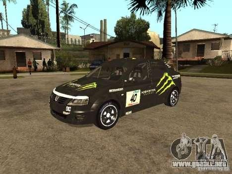 Dacia Logan Rally Dirt para vista lateral GTA San Andreas