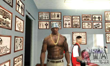 50cent_tatu para GTA San Andreas segunda pantalla