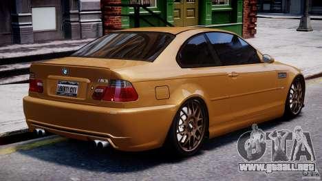 BMW M3 E46 Tuning 2001 v2.0 para GTA 4 vista superior