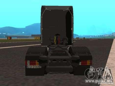 Mercedes-Benz Actros MP3 para GTA San Andreas vista hacia atrás