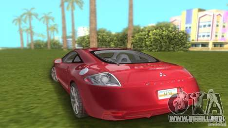 Mitsubishi Eclipse GT 2007 para GTA Vice City left