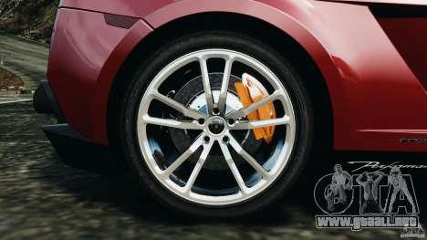 Lamborghini Gallardo LP570-4 Spyder Performante para GTA 4 vista superior