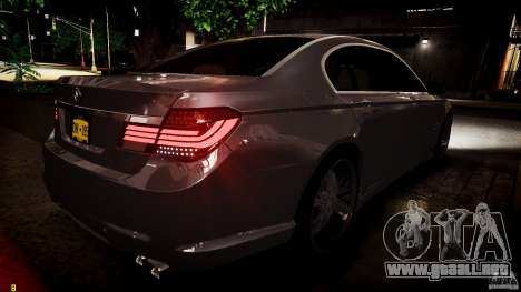 BMW 750Li Sedan ASANTI para GTA 4 vista superior