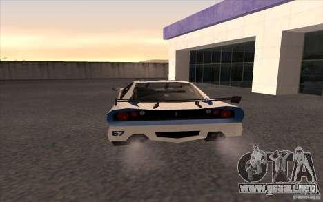 El nuevo Turismo para GTA San Andreas vista posterior izquierda