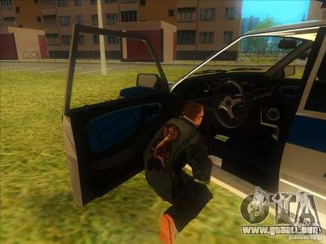 Policía rusa Ваз 2114 para GTA San Andreas vista hacia atrás