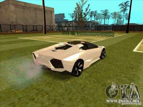 Lamborghini Reventon Convertible para la visión correcta GTA San Andreas