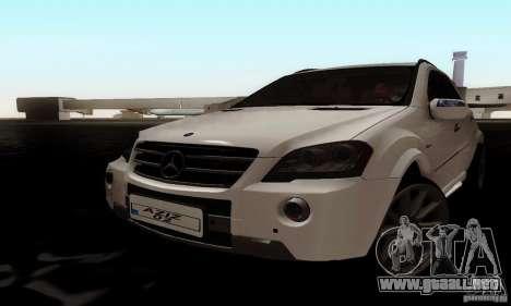 Mercedes Benz ML63 AMG para GTA San Andreas vista posterior izquierda