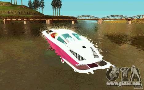 Mamba Speedboat para GTA San Andreas vista posterior izquierda