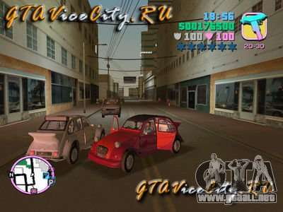 Citroen 2CV spoiler para GTA Vice City