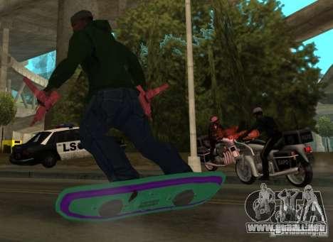 Hoverboard bttf para GTA San Andreas left
