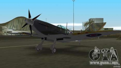 Spitfire Mk IX para GTA Vice City vista lateral izquierdo