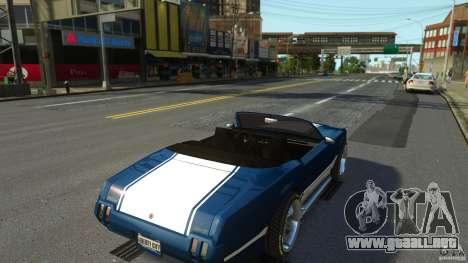 Sabre GT II Vinyl Roof para GTA 4 vista hacia atrás