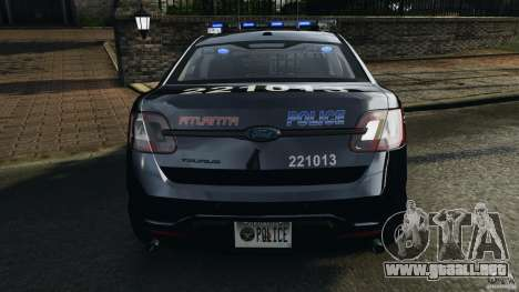 Ford Taurus 2010 Atlanta Police [ELS] para GTA motor 4