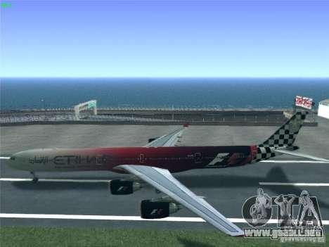 Airbus A340-600 Etihad Airways F1 Livrey para la visión correcta GTA San Andreas
