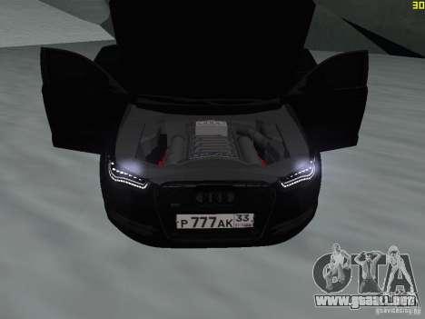 Audi A6 (C7) para visión interna GTA San Andreas
