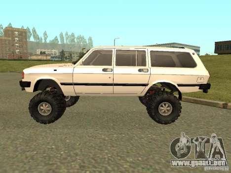31022 Volga GAS 4 x 4 para GTA San Andreas vista posterior izquierda