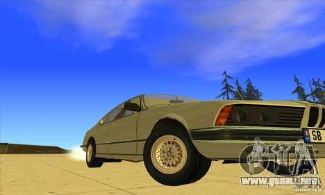BMW 735i E23 1979 para GTA San Andreas vista hacia atrás