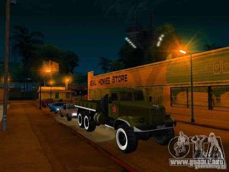 Camión KrAZ desfile para la visión correcta GTA San Andreas