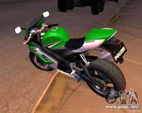 Suzuki 1000 Police para la visión correcta GTA San Andreas