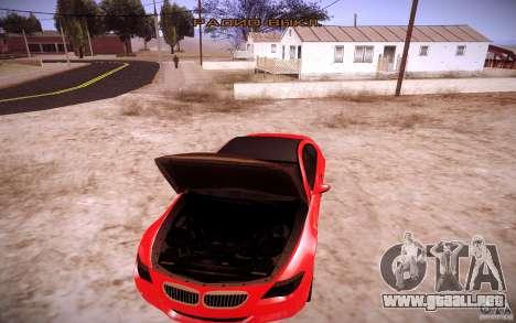 BMW M6 para vista lateral GTA San Andreas