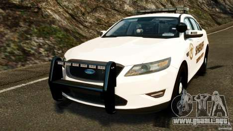 Ford Taurus 2010 CCSO Police [ELS] para GTA 4