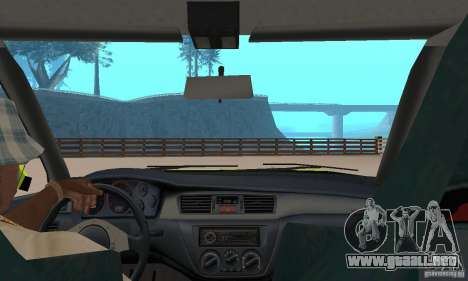 Mitsubishi Lancer Evo The Fast and the Furious 2 para GTA San Andreas vista hacia atrás