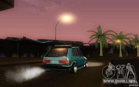 Volkswagen Golf GTI rabbit euro style para GTA San Andreas vista hacia atrás